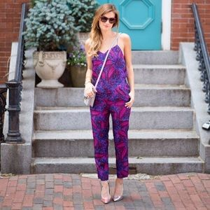 J Crew • Midnight Floral Jumpsuit